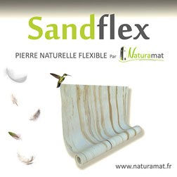 SANDFLEX feuille de sable naturel flexible NATURAMAT