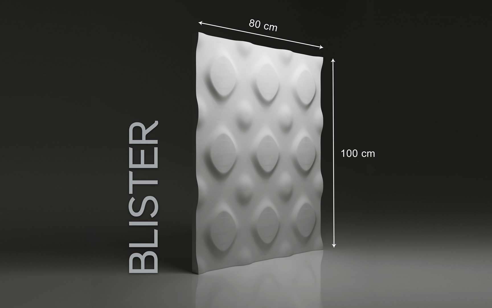 BLISTER DIMENSIONS : hauteur 80 x largeur 100 cm ÉPAISSEUR : de 1,5 cm à 3,0 cm  POIDS : environ 12 kg