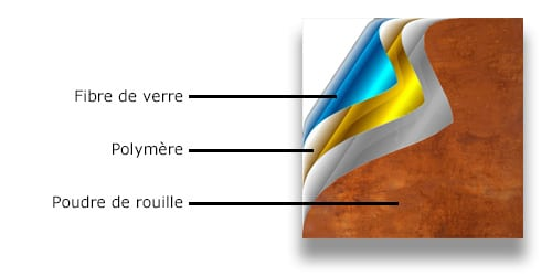 La feuille de pierre Naturamat est composée de pierre naturelle véritable, résine et fibre de verree pierre naturelle flexible Naturamt est composée de pierre naturelle véritable, de résine et de fibre de verre