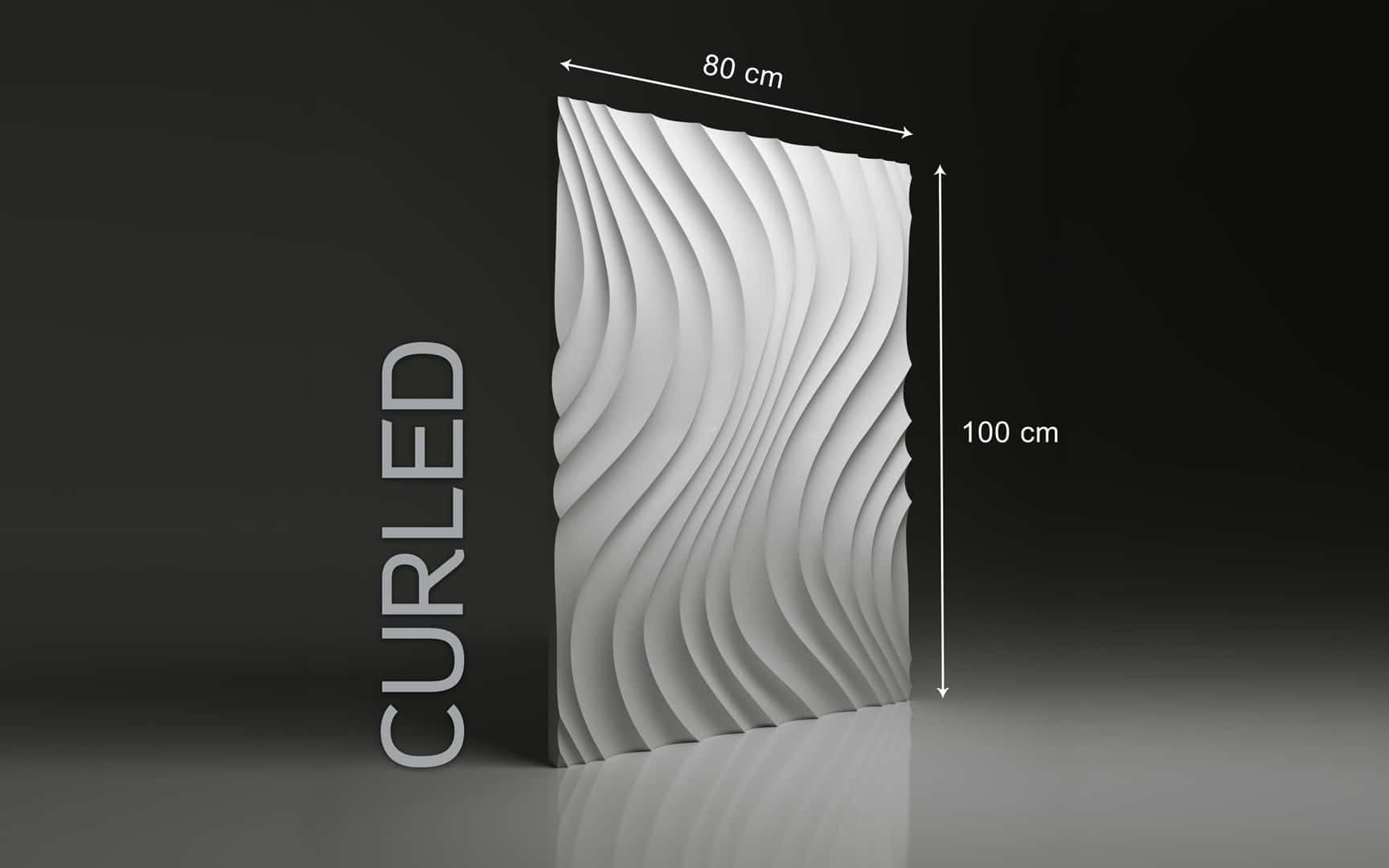 CURLED DIMENSIONS : hauteur 80 x largeur 100 cm ÉPAISSEUR : de 1,5 cm à 3,0 cm  POIDS : environ 12 kg
