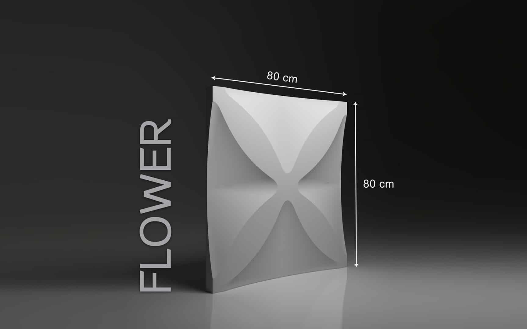 FLOWER DIMENSIONS : hauteur 80 x largeur 80 cm ÉPAISSEUR : de 1,5 cm à 5,0 cm  POIDS : environ 17 kg