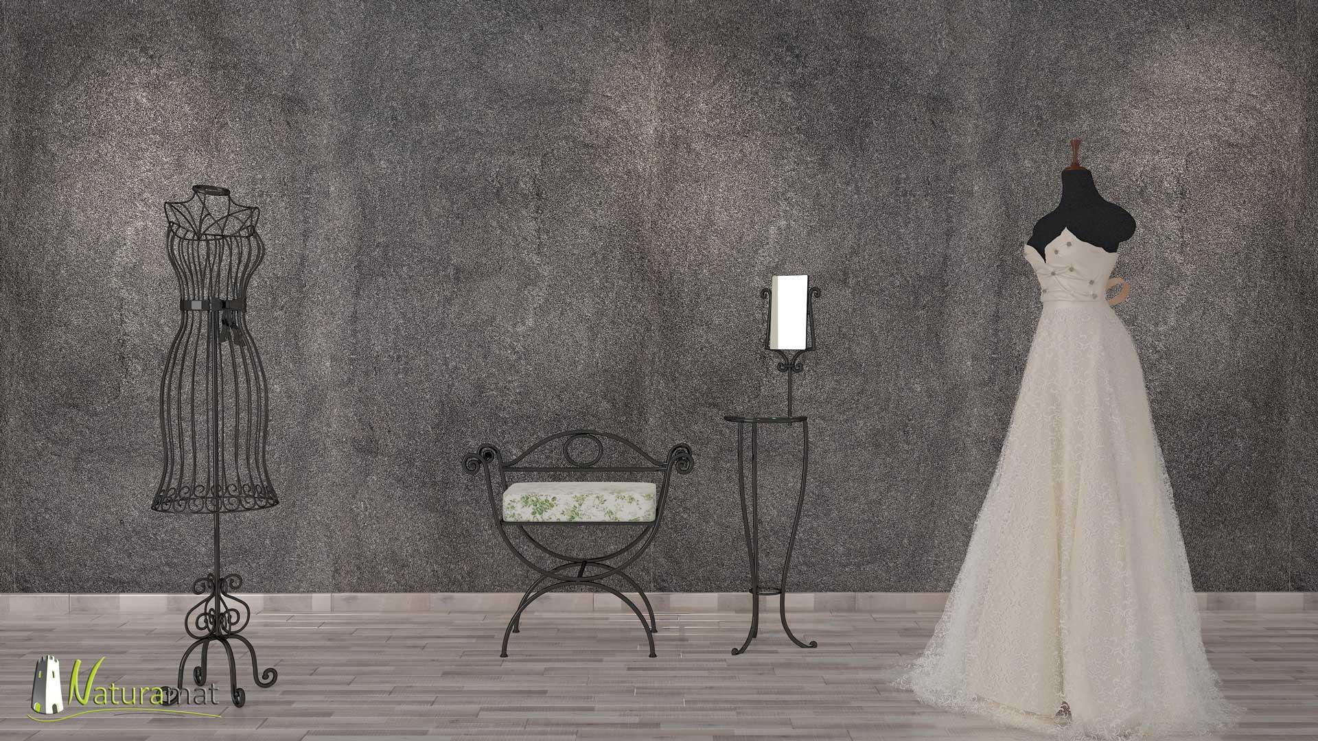 Feuille de pierre naturelle flexible Black Shimmer