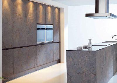 Feuille de pierre Designflex habillage des éléments de cuisine