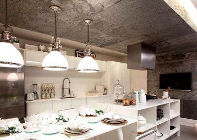 Feuille de pierre Décoration murale et plafond d'une cuisine