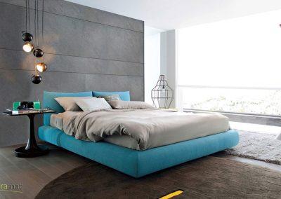 Feuille de pierre Designflex application tête de lit d'une suite parentale