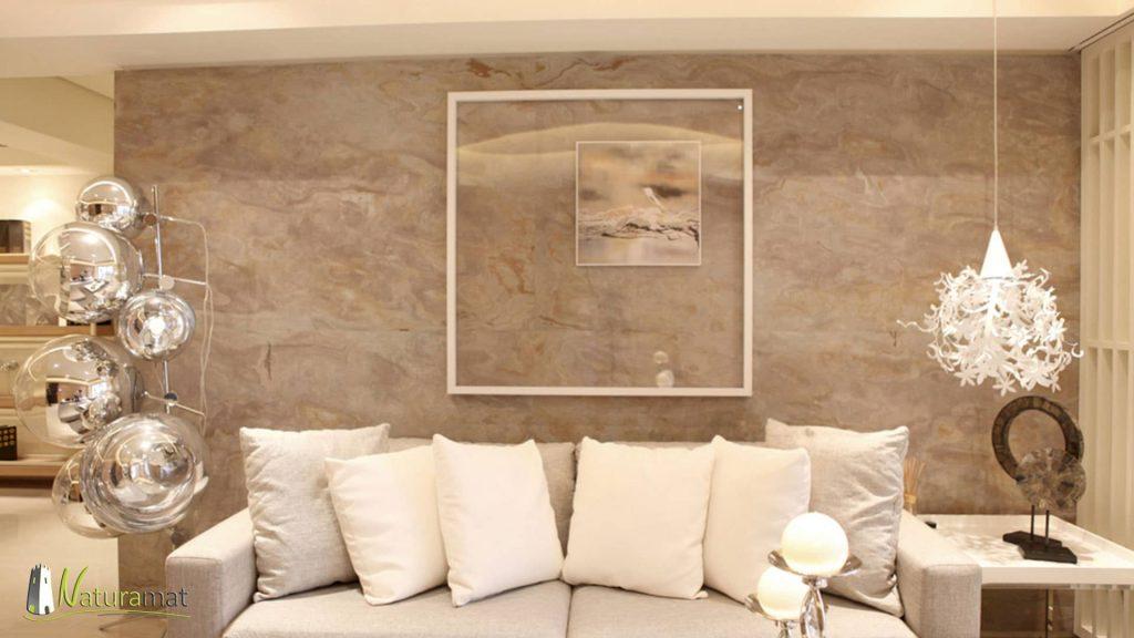 Feuille de pierre Designflex application de décoration murale avec effet de tableaux