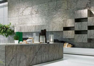 Feuille de pierre Designflex application murale avec rappel sur l'ameublement