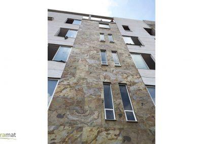 Feuille de pierre Rénovation d'une façade d'immeuble