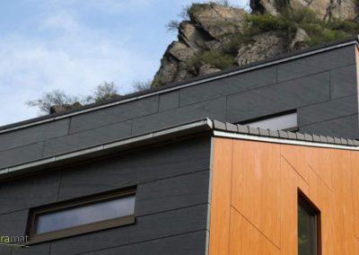 Feuille de pierre Réalisation des façades extérieures d'un chalet