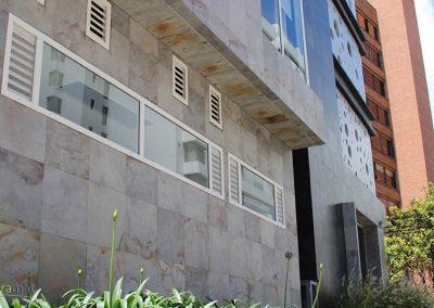 Feuille de pierre Façade d'immeuble