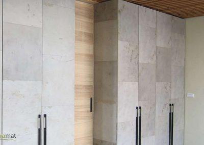 Feuille de pierre Agencement de portes de placard