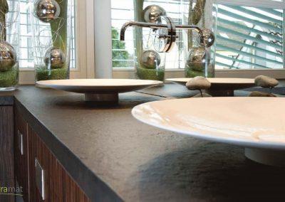 Plan de vasque en feuille de pierre Designflex