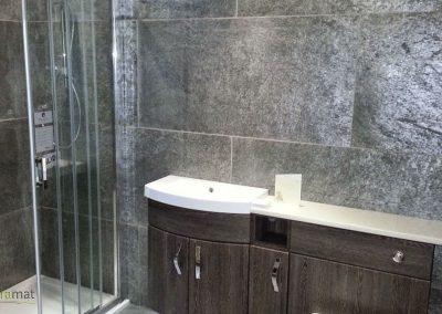 Feuille de pierre Intérieur de douche et murs salle de bain