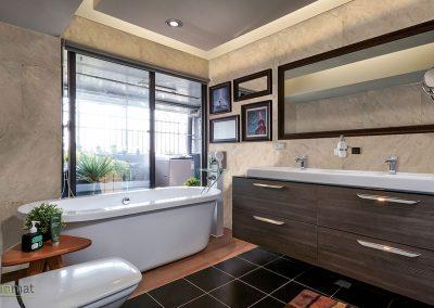 Feuille de pierre Cas d'application d'un salle de bain