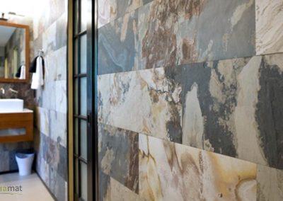 Feuille de pierre Décoration murale de salle de bain
