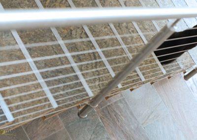 Feuille de pierre Designflex application dans un escalier et un hall d'entrée