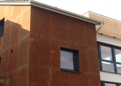 Décoration façade extérieure Feuille de rouille Naturamat Oxyflex Lisse