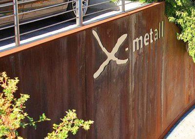 Décoration murale extérieure Feuille de rouille Naturamat Oxyflex Lisse