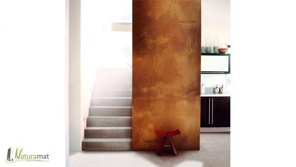 Décoration murale couloir Feuille de rouille Naturamat Oxyflex Strié