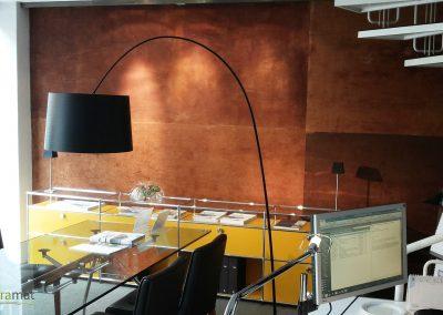 Agencement bureaux Feuille de rouille Naturamat Oxyflex Lisse