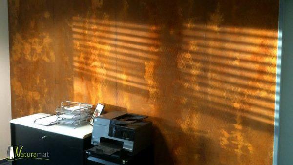 Décoration murale bureau Feuille de rouille Naturamat Oxyflex Strié