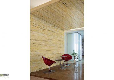 Décoration murale et plafond avec de la feuille de sable