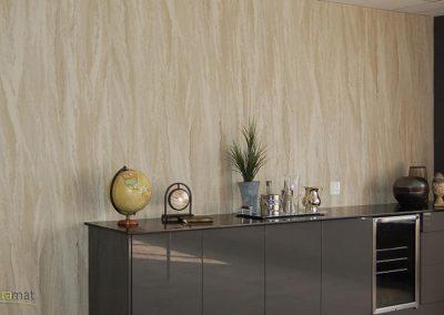 Décoration murale salle de séjour avec de la feuille de sable