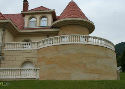 Revêtement en façade de feuille de sable