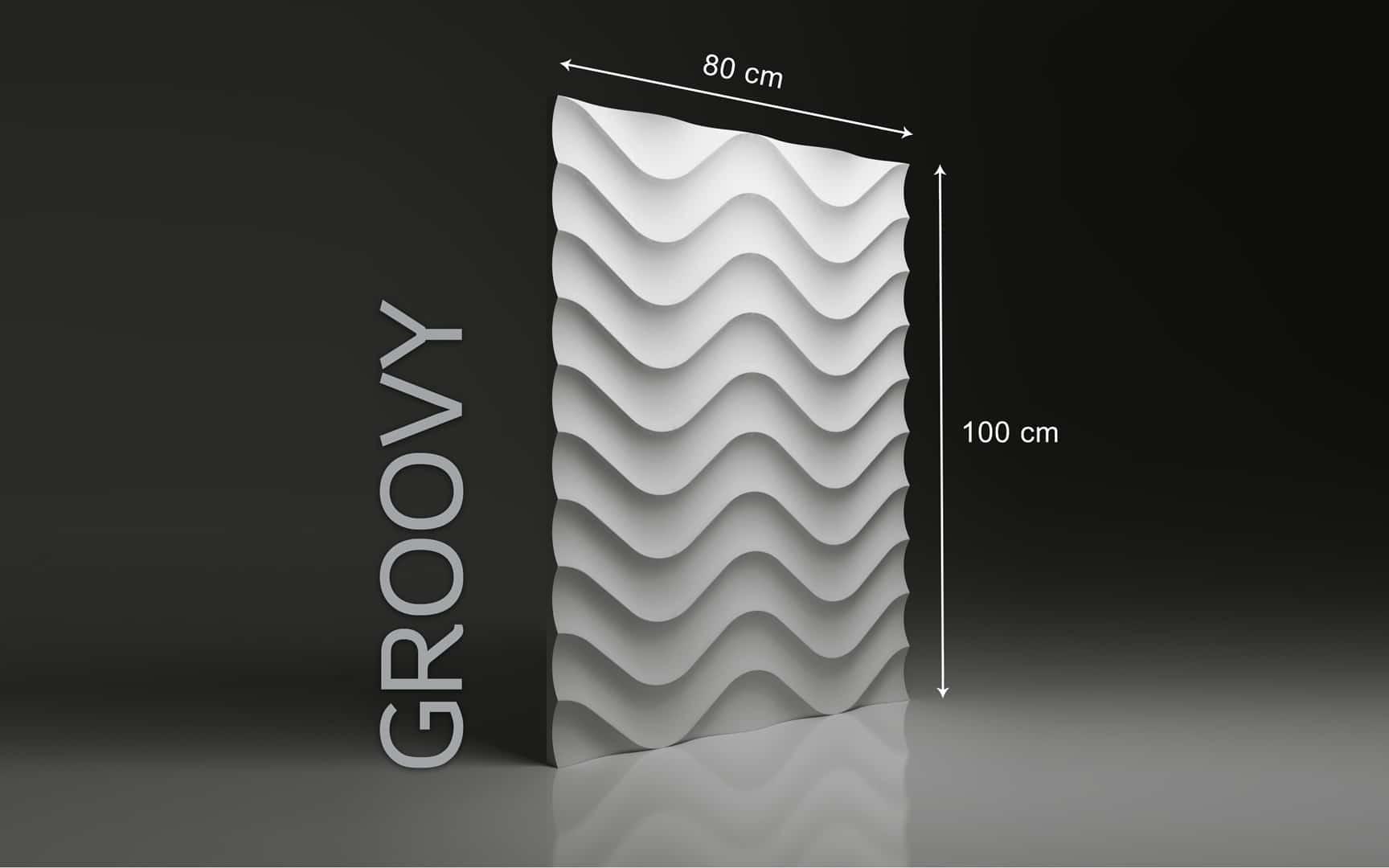 GROOVY DIMENSIONS : hauteur 100 x largeur 80 cm ÉPAISSEUR : de 1,5 cm à 3,0 cm  POIDS : environ 12 kg