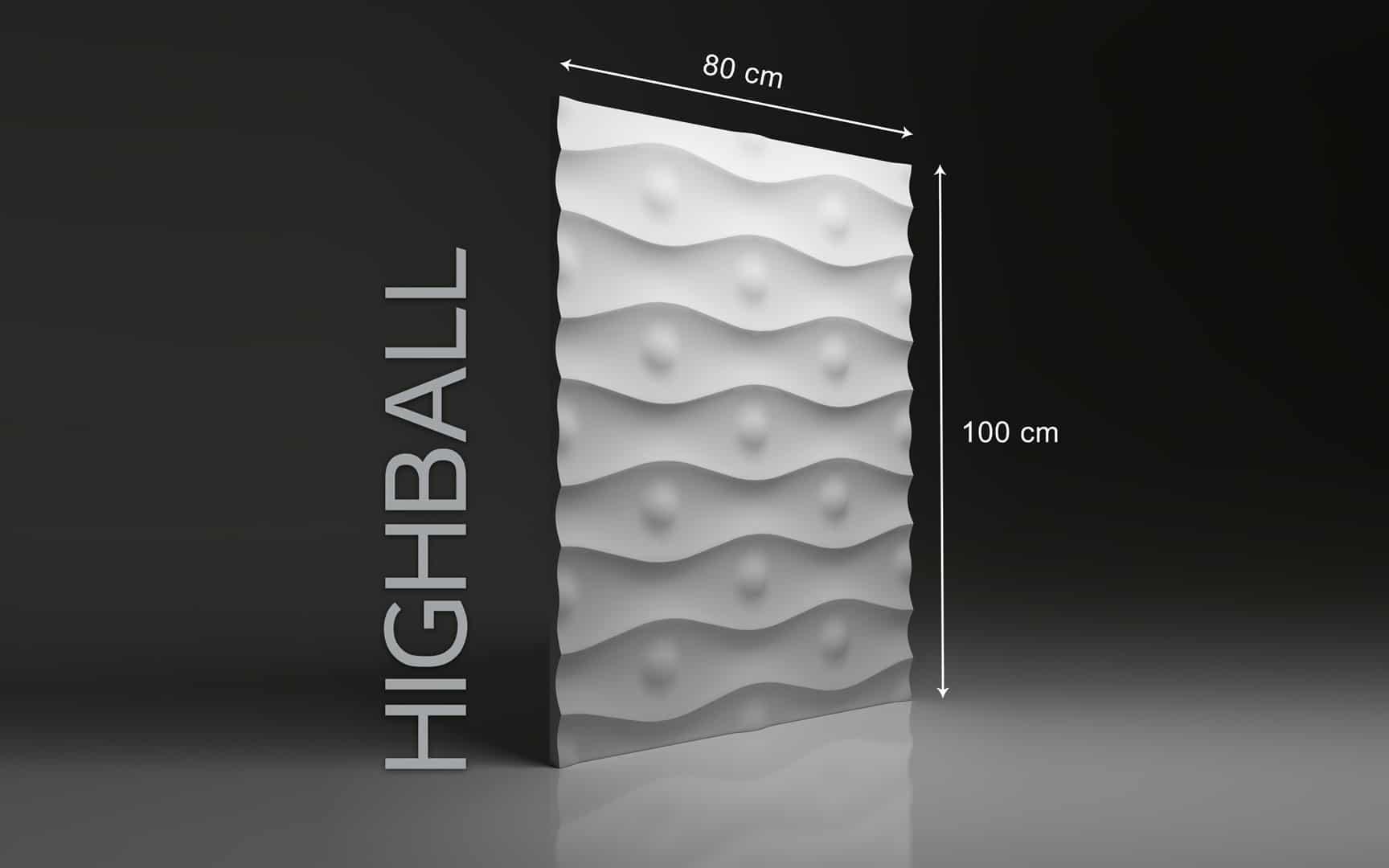 HIGHBALL DIMENSIONS : hauteur 100 x largeur 80 cm ÉPAISSEUR : de 1,5 cm à 3,0 cm  POIDS : environ 12 kg