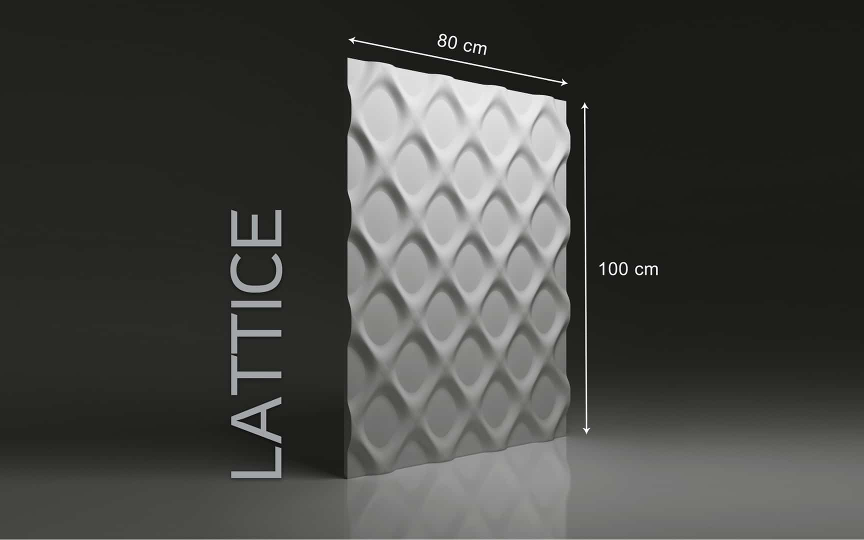 LATTICE DIMENSIONS : hauteur 100 x largeur 80 cm ÉPAISSEUR : de 1,5 cm à 3,0 cm  POIDS : environ 12 kg