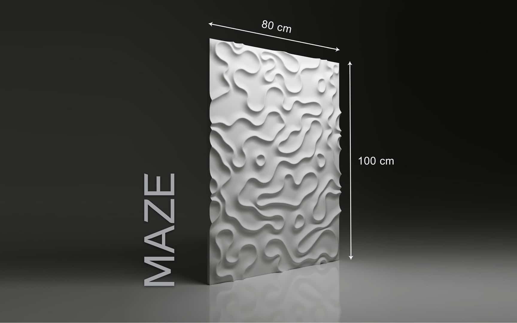 MAZE DIMENSIONS : hauteur 100 x largeur 80 cm ÉPAISSEUR : de 1,5 cm à 3,0 cm  POIDS : environ 12 kg