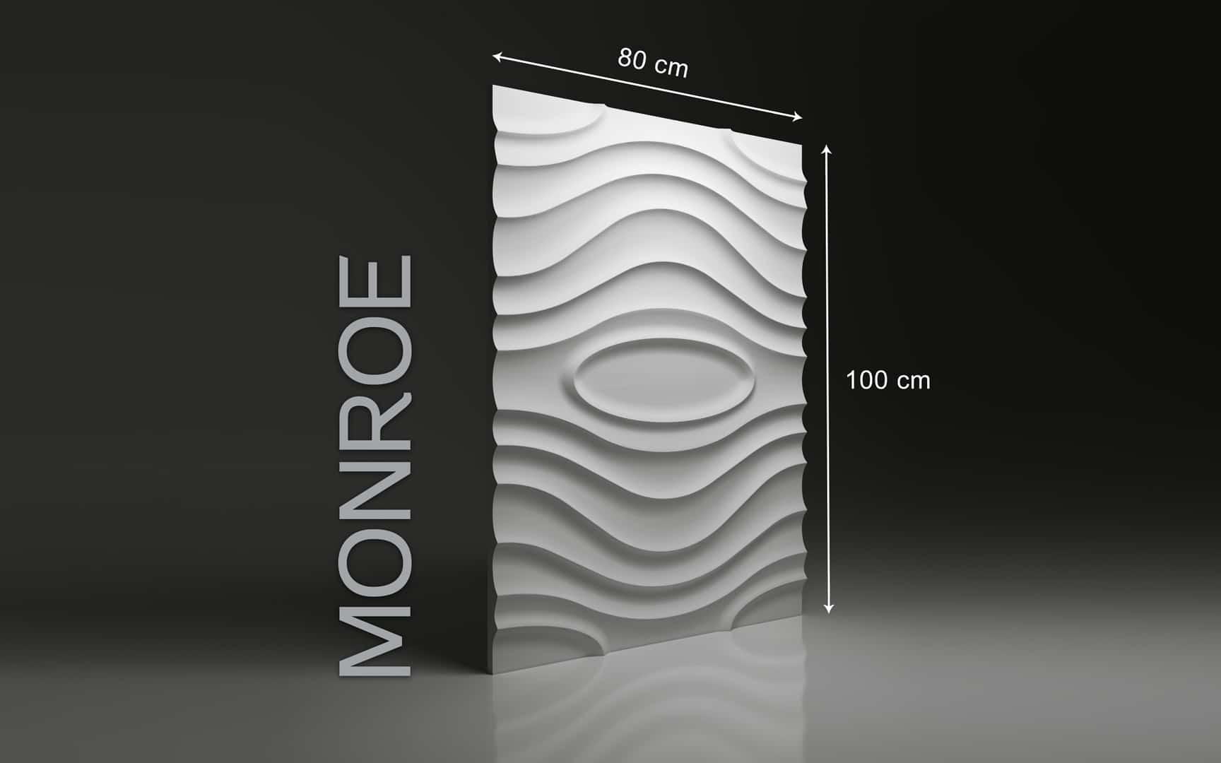 MONROE DIMENSIONS : hauteur 100 x largeur 80 cm ÉPAISSEUR : de 1,5 cm à 3,0 cm  POIDS : environ 12 kg