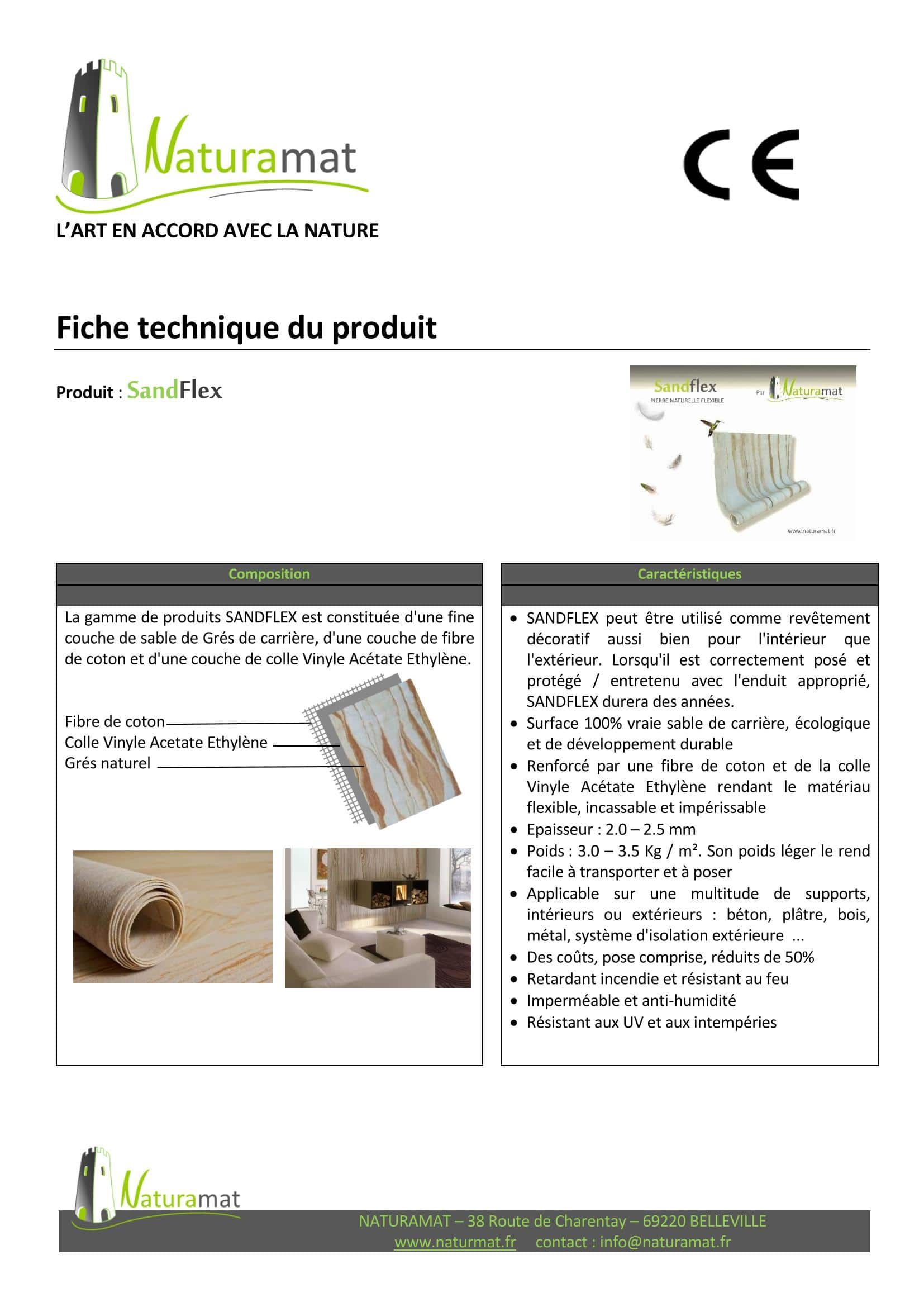 Fiche Technique Designflex NATURAMAT