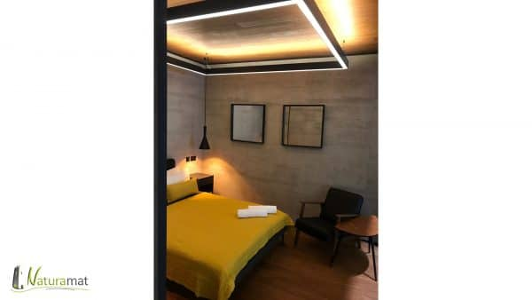 Naturamat Travertinflex 1084 Travertin Gris Chambre D'hotel