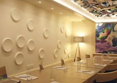 Agencement salle de réunion Panneaux 3D Naturamat Dunes Craters