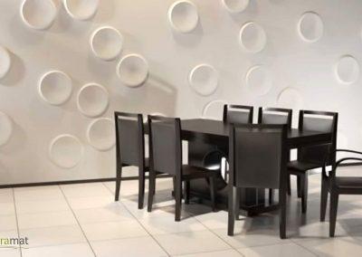 Décoration murale salle à manger Panneaux 3D Naturamat Dunes Craters