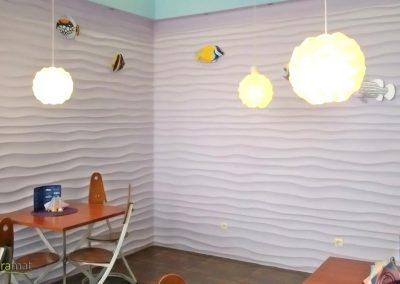 Décoration murale salle de restaurant Panneaux 3D Naturamat Dunes Choppy