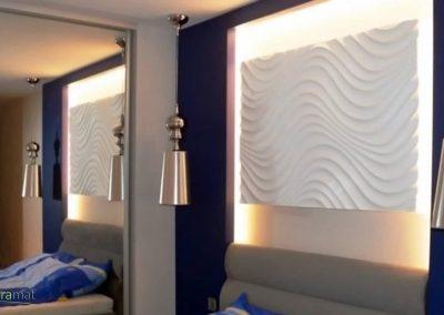 Décoration murale chambre Panneaux 3D Naturamat Dunes Curled
