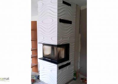 Décoration cheminée Panneaux 3D Naturamat Dunes Monroe