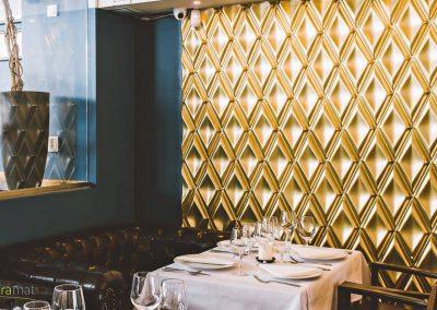 Agencement restaurant Panneaux 3D Naturamat Dunes Rhombus