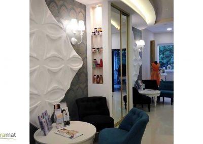 Agencement salon de coiffure Panneaux 3D Naturamat Dunes Flowers