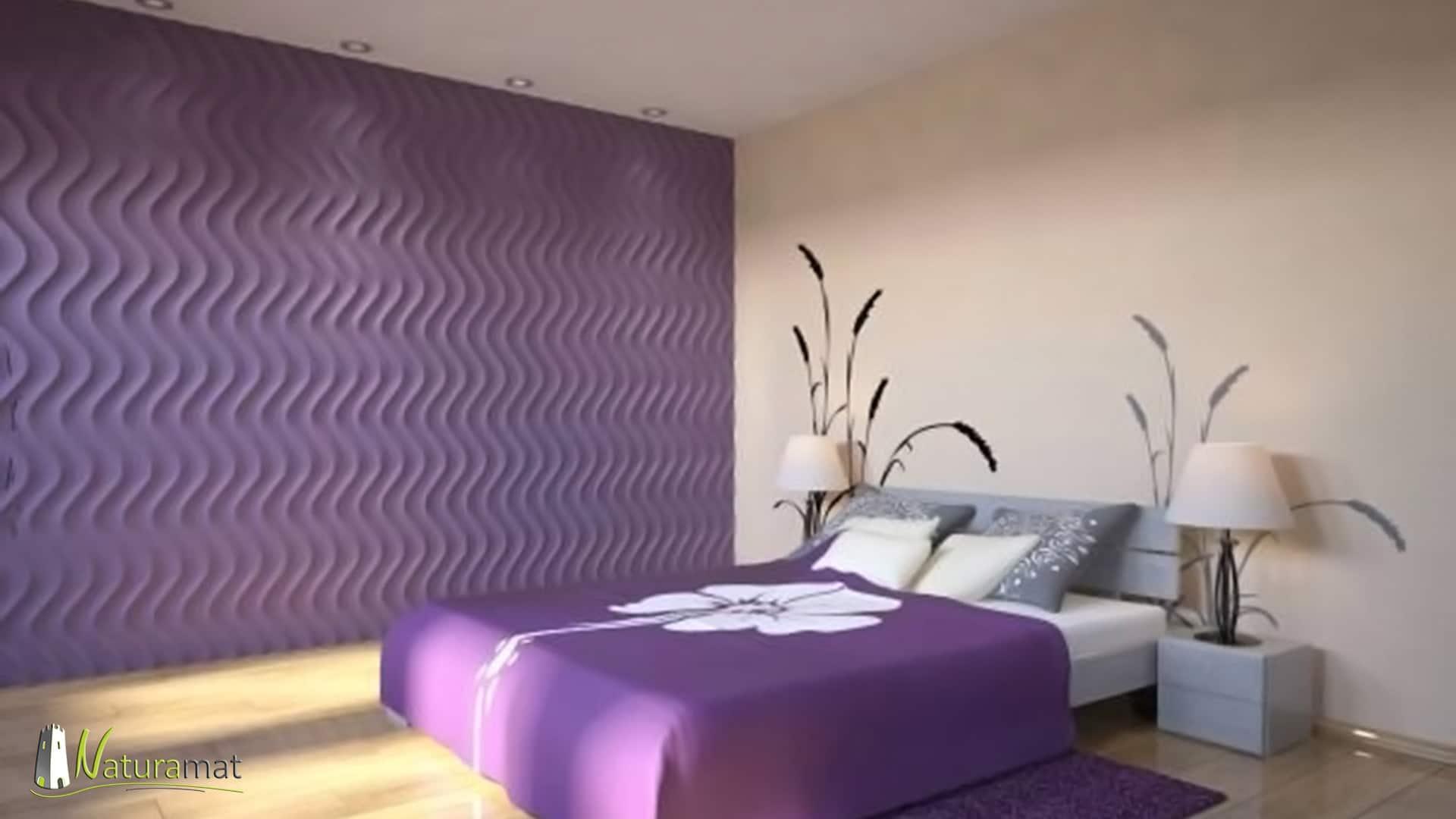 Décoration murale chambre Panneaux 3D Naturamat Dunes Groovy