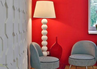Décoration murale salon Panneaux 3D Naturamat Dunes Honey
