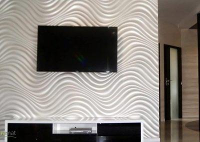 Décoration murale salon Panneaux 3D Naturamat Dunes Curled
