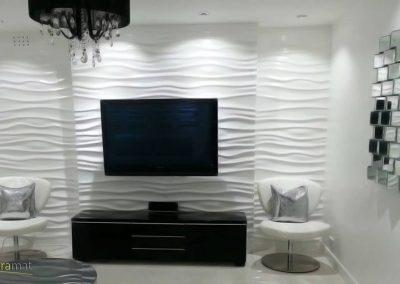 Décoration murale salon Panneaux 3D Naturamat Dunes Waves