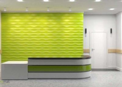 Agencement accueil Panneaux 3D Naturamat Dunes Hourglass