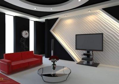 Décoration murale salon Panneaux 3D Naturamat Dunes Choppy