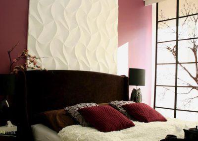 Tête de lit chambre Panneaux 3D Naturamat Dunes Origami