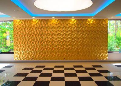 Agencement salle de réception Panneaux 3D Naturamat Dunes Origami